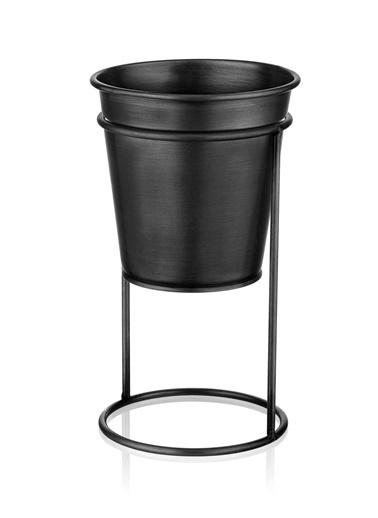 The Mia Çiçeklik Ayaklı 27 Cm - Siyah Siyah